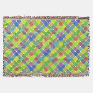 Tela escocesa diagonal coloreada salvaje 2 manta