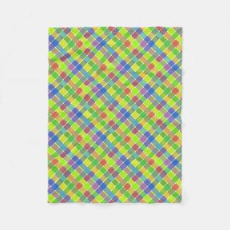 Tela escocesa diagonal coloreada salvaje 2 manta de forro polar
