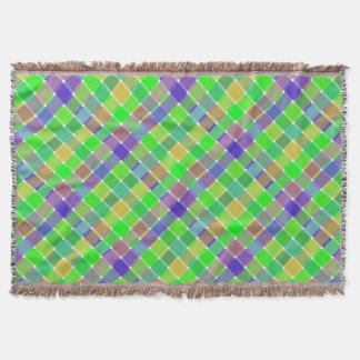 Tela escocesa diagonal coloreada salvaje 3 manta