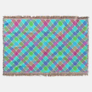 Tela escocesa diagonal coloreada salvaje 4 manta