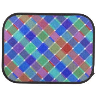 Tela escocesa diagonal coloreada salvaje 5 alfombrilla de coche