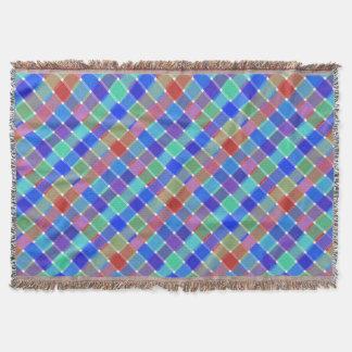 Tela escocesa diagonal coloreada salvaje 5 manta
