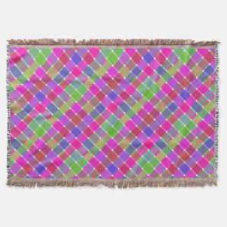 Tela escocesa diagonal coloreada salvaje 7 manta