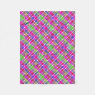 Tela escocesa diagonal coloreada salvaje 7 manta de forro polar