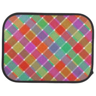 Tela escocesa diagonal coloreada salvaje 8 alfombrilla de coche