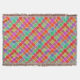 Tela escocesa diagonal coloreada salvaje 8 manta