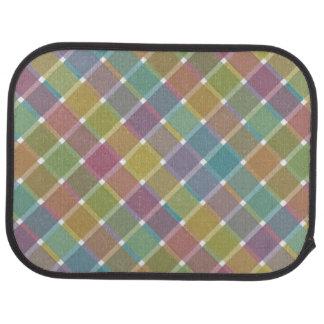Tela escocesa diagonal coloreada salvaje 9 alfombrilla de coche
