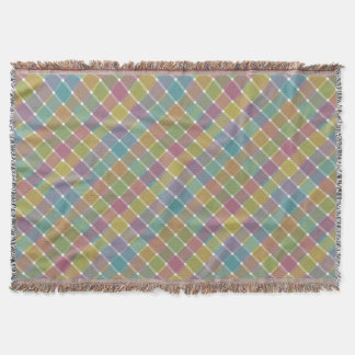 Tela escocesa diagonal coloreada salvaje 9 manta