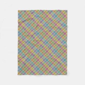 Tela escocesa diagonal coloreada salvaje 9 manta de forro polar