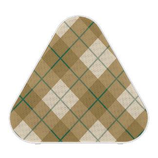 Tela escocesa diagonal en oro con la raya verde altavoz