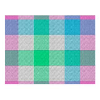 Tela escocesa en colores pastel del caramelo tarjeta postal