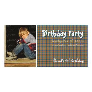 Tela escocesa escocesa de la foto el   de la tarjetas fotograficas