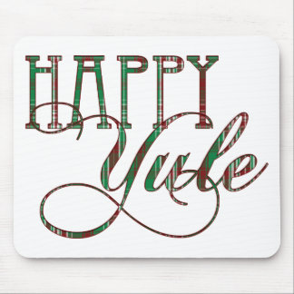 Tela escocesa feliz de Yule Tapete De Raton
