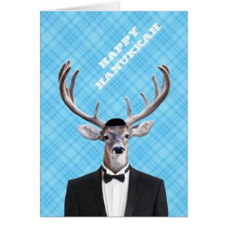 Tela escocesa feliz divertida del azul de los tarjeta de felicitación