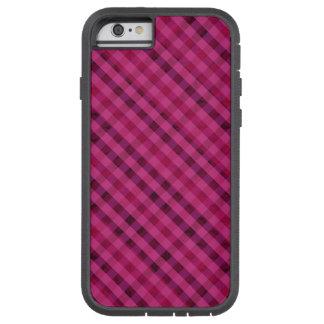 Tela escocesa fucsia - caso duro del iPhone 6 de Funda Tough Xtreme iPhone 6