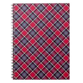 Tela escocesa fucsia libro de apuntes