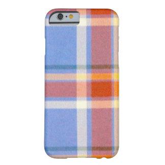 tela escocesa gris funda de iPhone 6 barely there