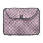 Tela escocesa gris rosada fundas para macbook pro