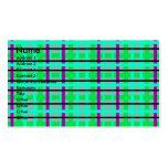 Tela escocesa gris y verde púrpura moderna tarjetas de visita