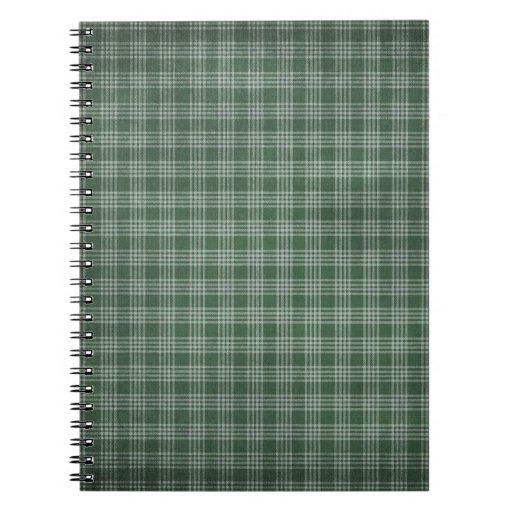 Tela escocesa hermosa y verde oscuro libreta