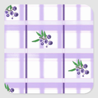 tela escocesa huckelberry calcomanía cuadradas personalizada