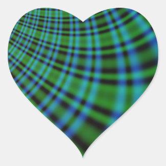 Tela escocesa irlandesa pegatina en forma de corazón