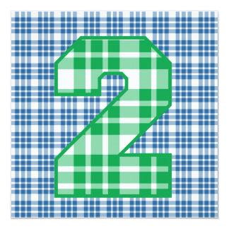 """Tela escocesa moderna conocida de encargo V06D del Invitación 5.25"""" X 5.25"""""""