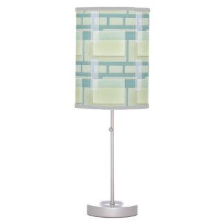Tela escocesa moderna lámpara de mesilla de noche