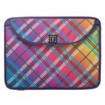 Tela escocesa multicolora brillante fundas para macbooks