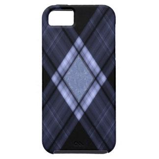 Tela escocesa negra funda para iPhone SE/5/5s