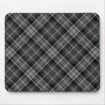 Tela escocesa negra tapetes de ratón