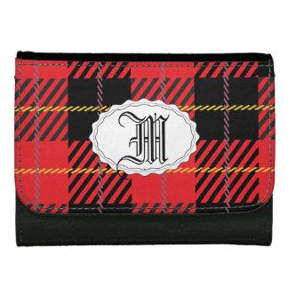 Tela escocesa negra y roja