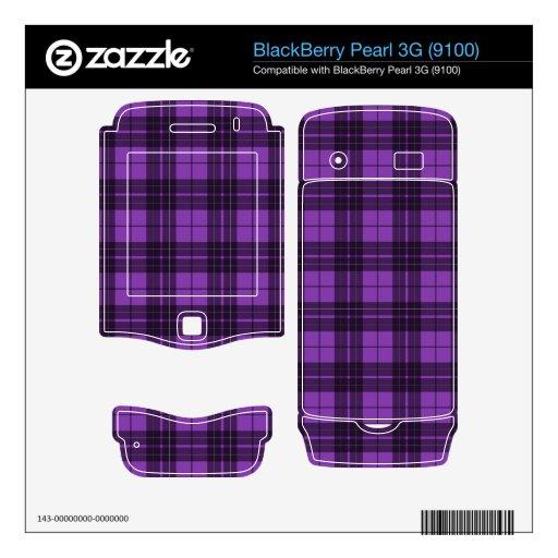 Tela escocesa púrpura BlackBerry skin