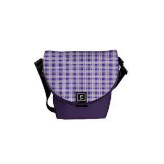 Tela escocesa púrpura bolsas messenger