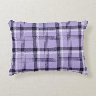 Tela escocesa púrpura de la guinga cojín decorativo