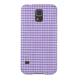 Tela escocesa púrpura de la guinga carcasa de galaxy s5