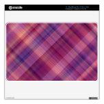 Tela escocesa púrpura de la puesta del sol calcomanías para MacBook
