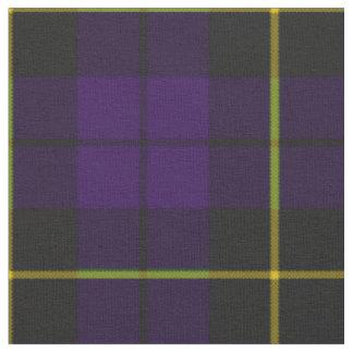 Tela escocesa púrpura del ciruelo y negra oscura telas