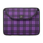 Tela escocesa púrpura fundas macbook pro