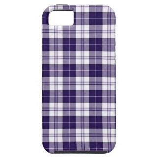 Tela escocesa púrpura iPhone 5 carcasas