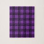 Tela escocesa púrpura puzzle con fotos