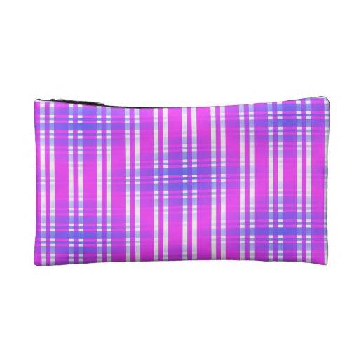 Tela escocesa púrpura rosada