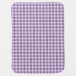 Tela escocesa púrpura V2 de la guinga Mantitas Para Bebé