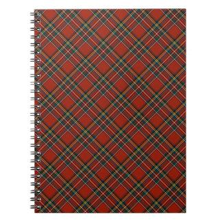 Tela escocesa real roja y azul del escocés de cuaderno