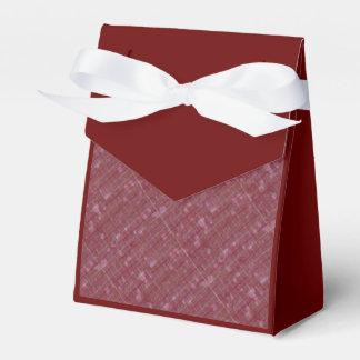 Tela escocesa retra apenada subió caja para regalos de fiestas
