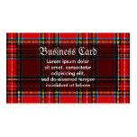 Tela escocesa retra plantilla de tarjeta de visita