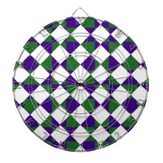 Tela escocesa reversa verde y púrpura tabla dardos