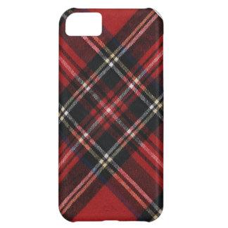 Tela escocesa roja acogedora funda para iPhone 5C