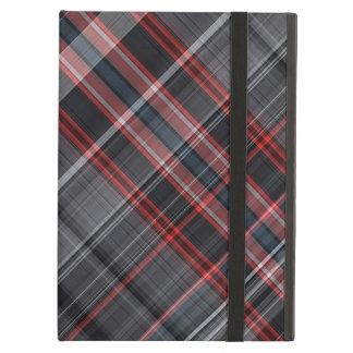 Tela escocesa roja, blanco y negro