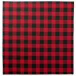 Tela escocesa roja del búfalo servilletas de papel